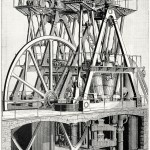 Science Art: <i>Leavitt Pumping Engine</i>, from <i>Appletons cyclopaedia of applied mechanic</i>, 1880.