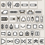 Science Art: <i>Pfd-symbols</i>, from the free open source program, Dia.