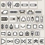Science Art: <i>Pfd-symbols</i>, from the free open source program, Dia.