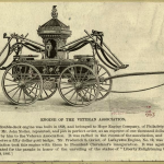 Science Art: &#8220;Engine of the Veteran Association&#8221; from <i>Our Firemen: A History of the New York Fire Department</i>, 1899.