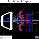 Science Art: <i>CERN-EX-1107175 01 </i> by the LHCB Team at the CERN Large Hadron Collider.