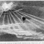 Science Art: <i>Paillettes de glace eclairées par les rayons du soleil observées en ballon</i>, by M. Albert Tissandier