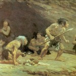Science Art: <i>Le Moustier Neanderthals</i>, by Charles L. Knight.