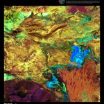 Science Art: <i>Spilled Paint</i>, Landsat 7, 2003.