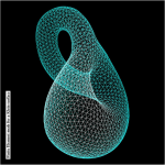 Science Art: <i>Finite Element Mesh for a Klein Surface</i>, by Cristian Barbarosie, 2009.