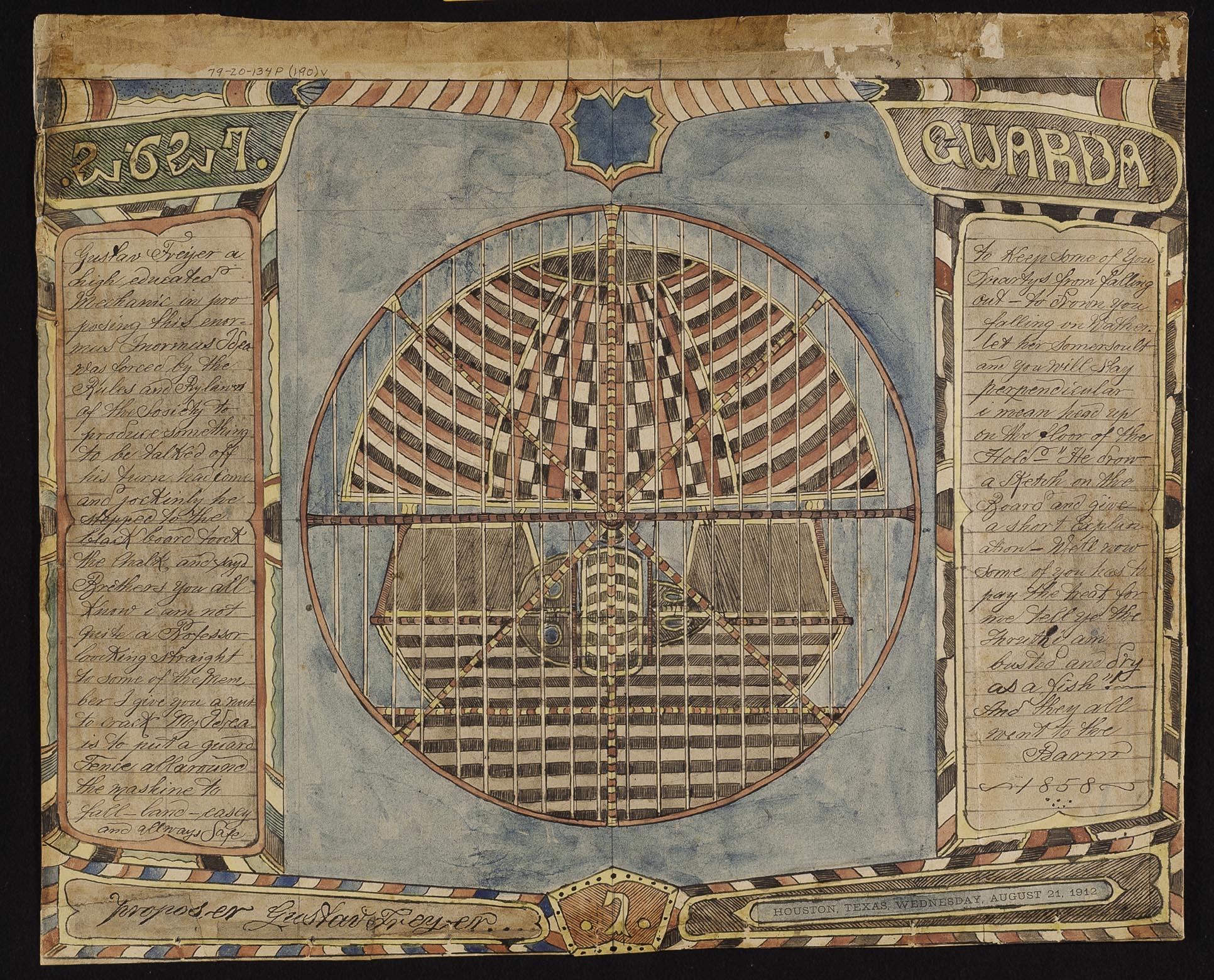 Charles A.A. Dellschau's Plate 2627 Guarda
