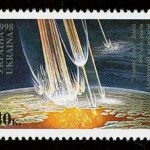 Science Art: <i>&#8220;Star Wounds&#8221; of the Earth, 400 million years</i>, 1998 stamp, Ukraine