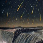 Science Art: <i>Leonid Meteor Storm, as seen over North America on the night of November 12-13, 1833 </i>