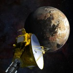 Science Art: <i>NASA's New Horizons spacecraft as it passes Pluto and Pluto's largest moon, Charon, in July 2015</i>, by NASA/JHU APL/SwRI/Steve Gribben.