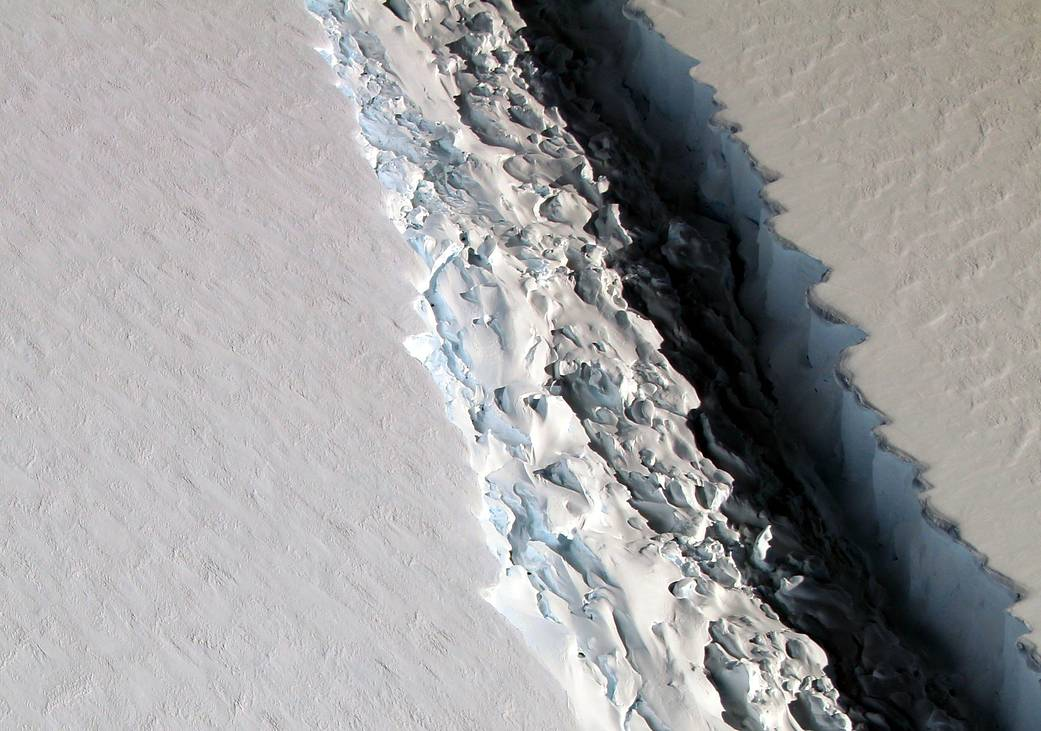Rift in Antarctica's Larsen C Ice Shelf,  Credit: NASA/John Sonntag