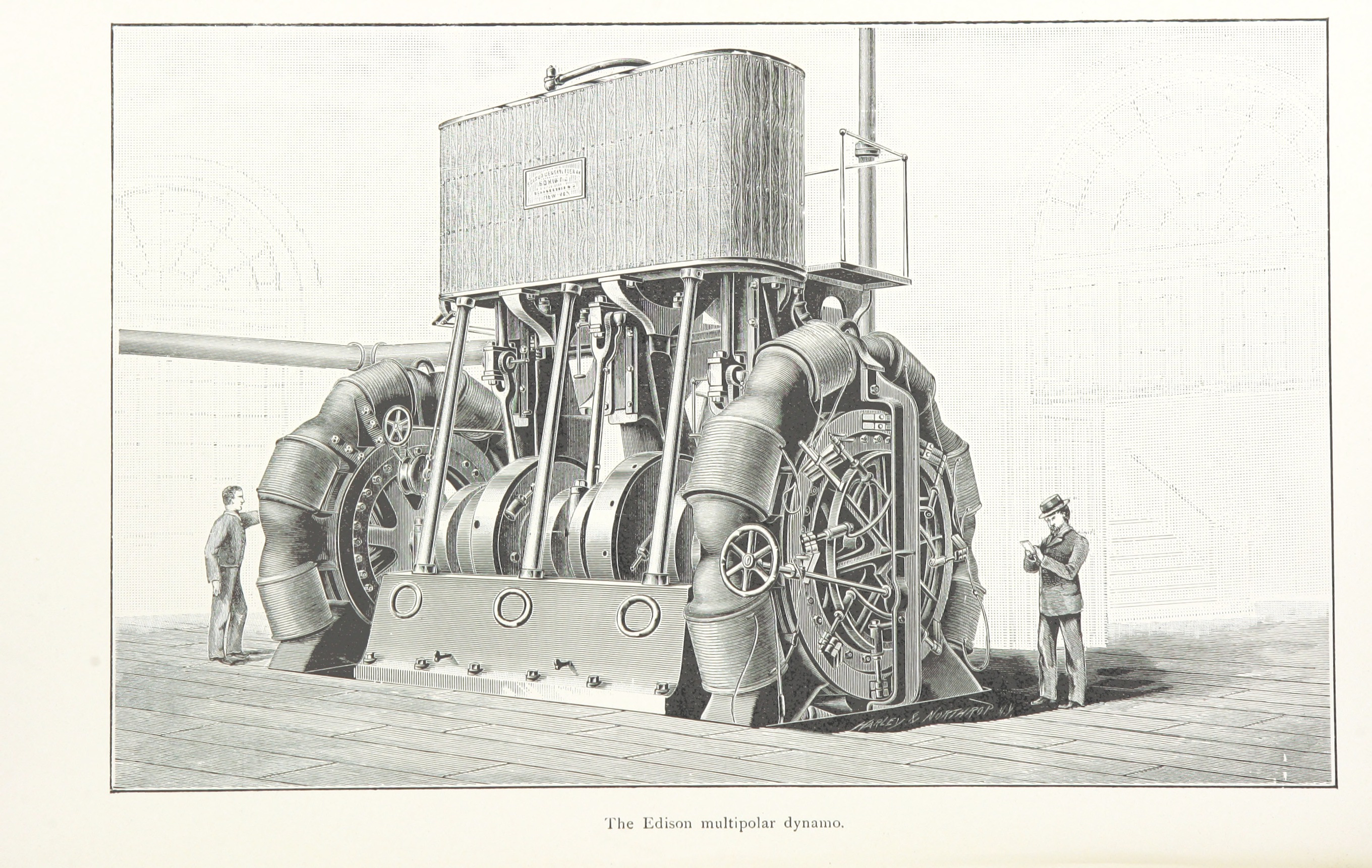 The Edison Multipolar Dynamo, from The United States of America. A study of the American Commonwealth, its natural resources, people, industries, manufactures, commerce, and its work in literature, science, education and self-government.