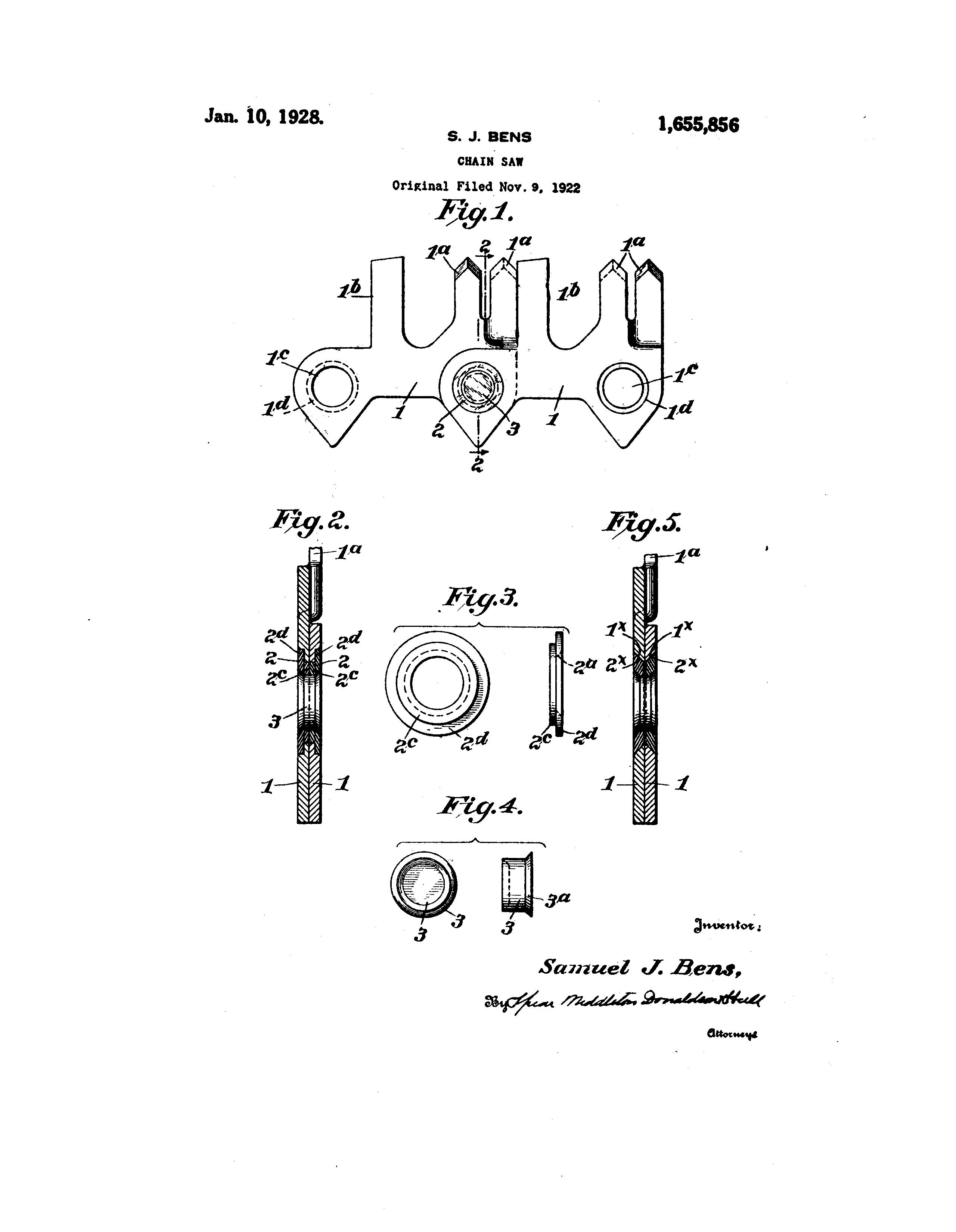 Chain Saw patent illustration