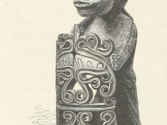 a Papuan ancestor-statue