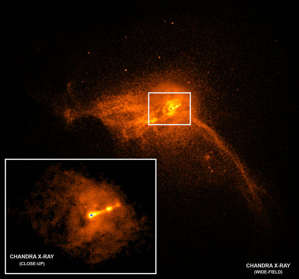 Scientific illustration of M87 black hole taken by Chandra X-ray Observatory