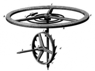 Scientific illustration of a watch escapement