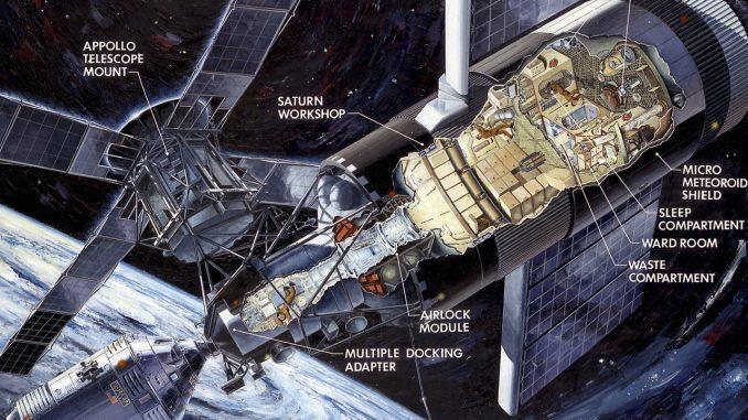 Scientific Illustration of NASA's Skylab