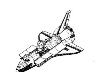 Scientific illustration of a space shuttle satellite payload from NASA's Technical Reports Server