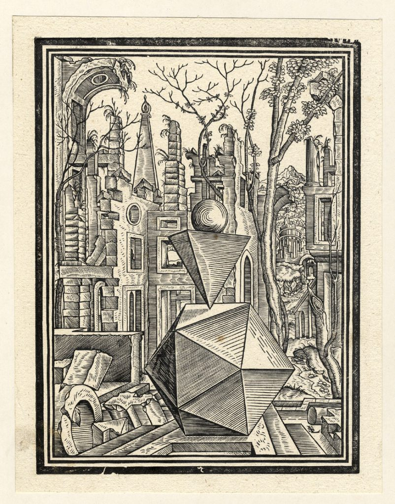Science Art: <i>Plate VI</i> from <i>Here, a number of broken gifts for the carpenters and lovers….</i>, by Lorenz Stöer, 1567.