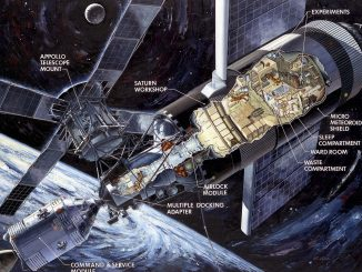 Scientific Illustration of NASA's Skylab
