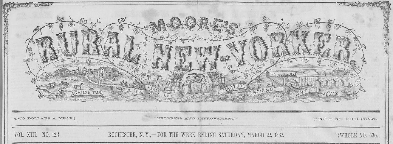Moore's Rural New Yorker masthead. Is it a scientific illustration?