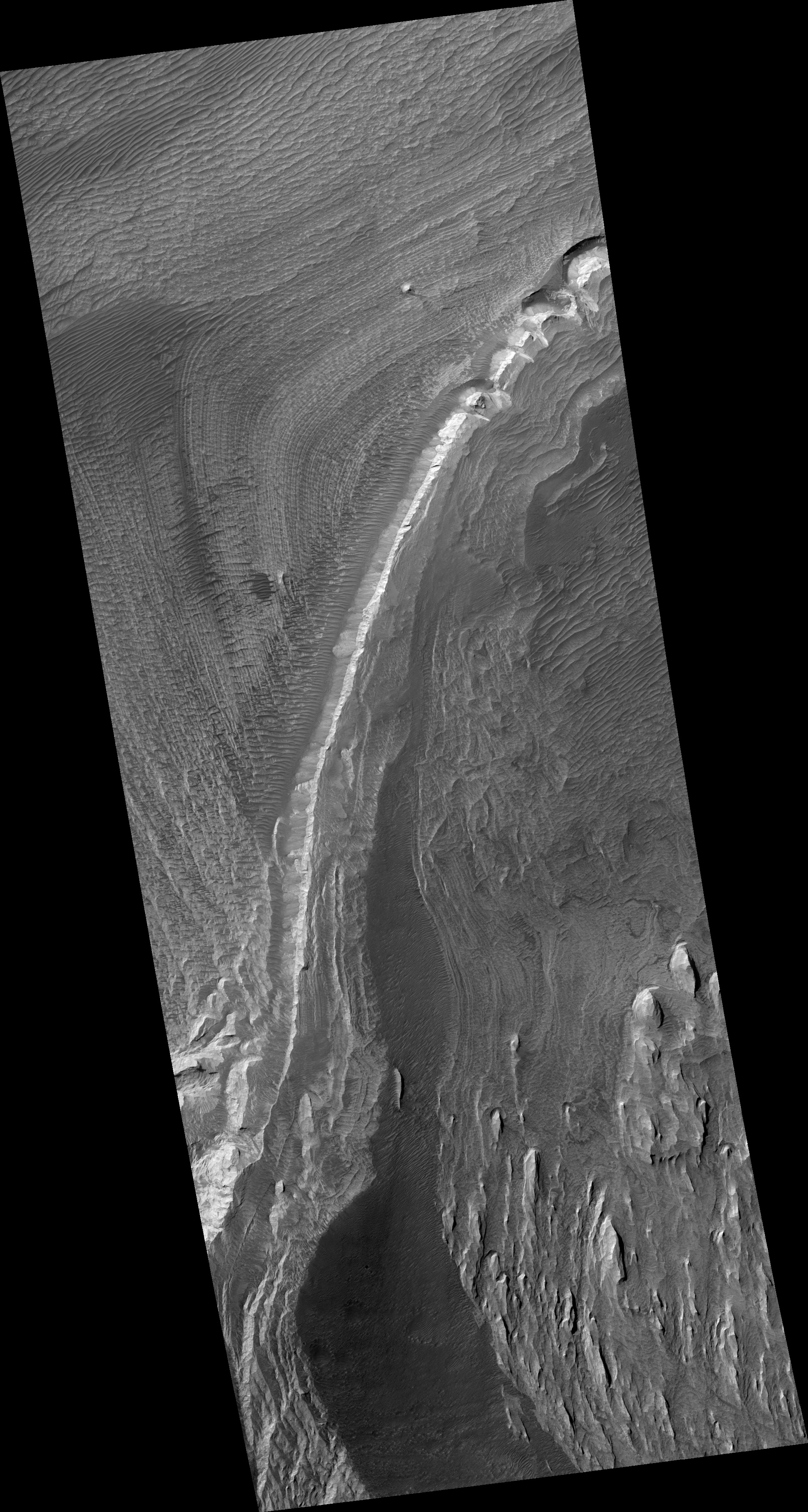 A stereoscopic image of Mars. Or half of a stereo image, at least.