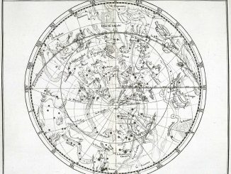 Scientific Illustration of the stars of the southern hemisphere, as charted by John Flamsteed
