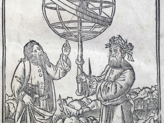 Scientific illustration of astronomical equiment in the Renaissance.