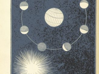 Scientific illustration of phases of the moon, from Six Thousand Years Ago: or, the Works of Creation illustrated