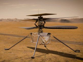 Scientific illustration of the Mars Ingenuity helicopter, by NASA/JPL-Caltech