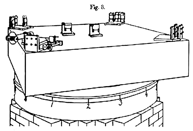 Scientific illustration of an interferometer used to disprove the existence of the luminiferous ether in the 19th century
