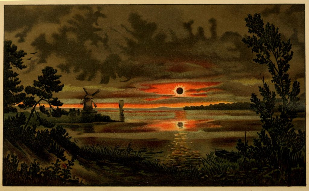 Science Art: <i>Total Eclipse of the Sun (from a painting by Kranz)</i>, 1897